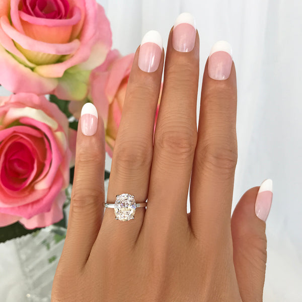 3 ct Oval Solitaire Ring