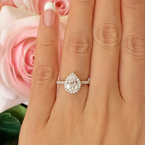 1/2 ct Solitaire Ring - 10k Solid White Gold