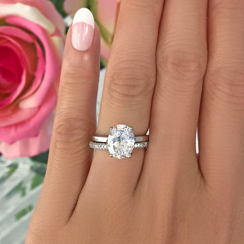 1.2 ct Classic Oval Solitaire Set