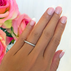 Rounded Half Eternity Band, 30% Final Sale, Sz 8-10.25