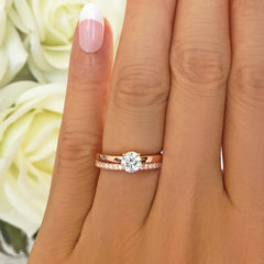 1/2 ct Round Solitaire Set- Rose GP