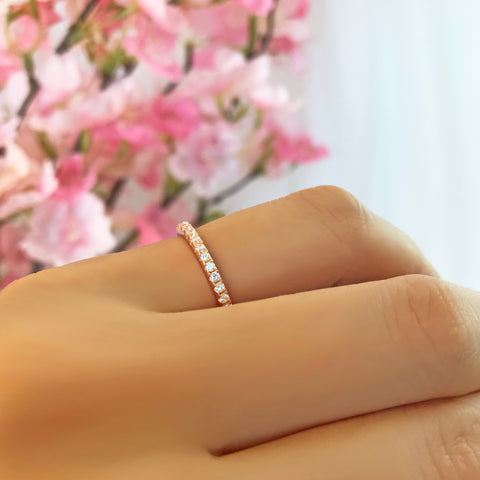 Small Channel Full Eternity Band - Sz 6-7 1/2