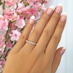 2 ctw Classic Full Eternity Band - 10k Solid Rose Gold