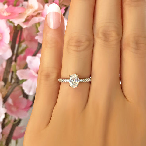 3/4 ctw Square Halo Ring
