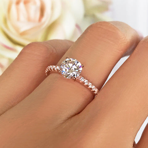 2.25 ctw Square Halo Ring