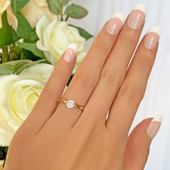 1/2 ct Solitaire Ring - Yellow GP