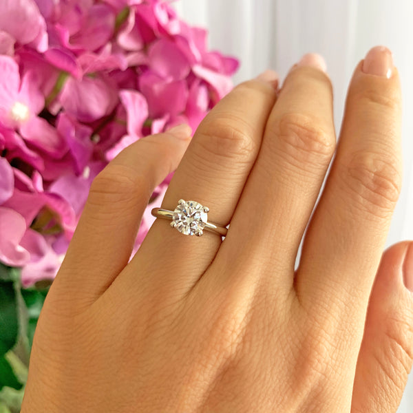 1.5 ct Classic V Style 4 Prong Solitaire Ring