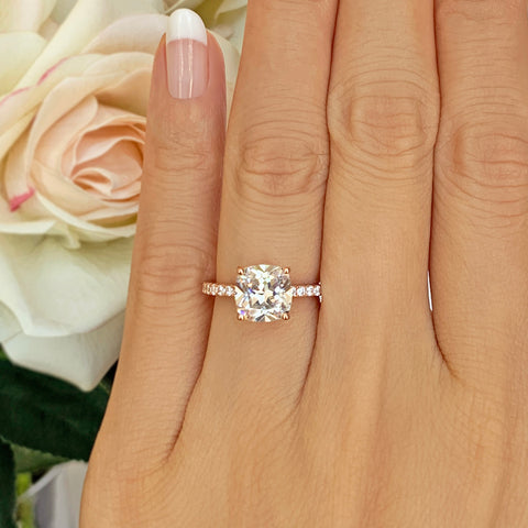 2 ct Cushion Cut Solitaire Ring