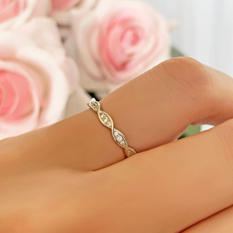 Swirl Art Deco Band - Rose GP