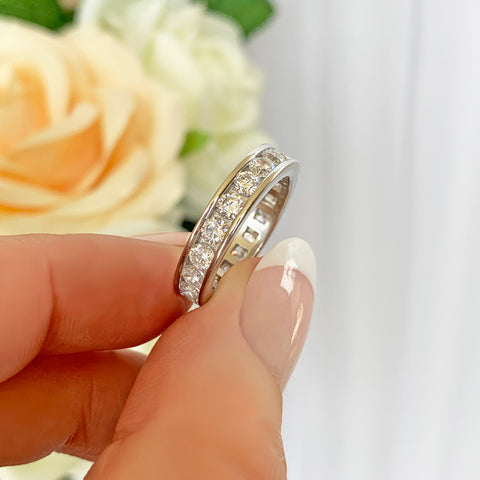 1/3 ctw Small Full Eternity Band - Yellow GP
