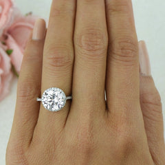 4.25 ctw Round Halo Ring, Sz 4-8