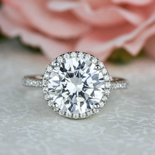 4.25 ctw Round Halo Ring