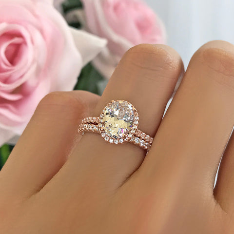 1.5 ctw Round Classic Halo Set - Rose GP, 40% Final Sale