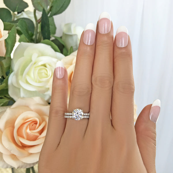 2.25 ctw Round Accented Solitaire Set