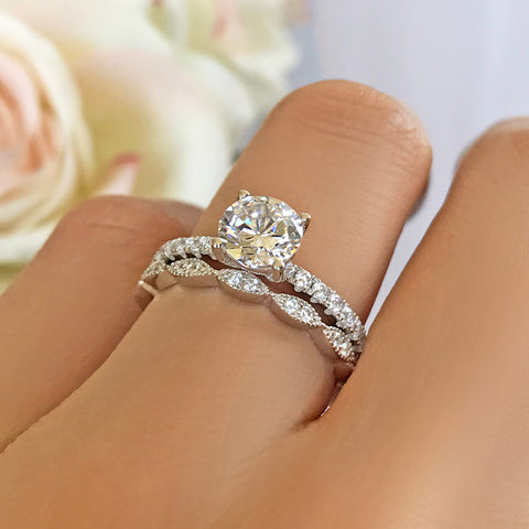 4 ctw Solitaire Eternity Set - Sz 10