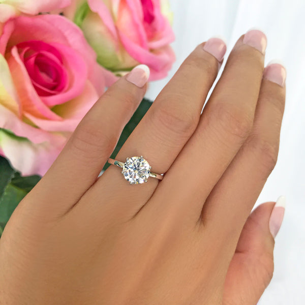 2 ct 6 Prong Solitaire Ring