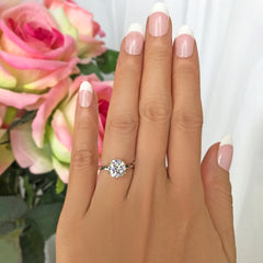 2 ct 6 Prong Stacking Solitaire Ring