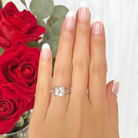 1 ctw Princess Halo Ring
