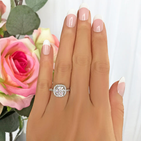 4 ct Classic Solitaire Ring - Final Sale
