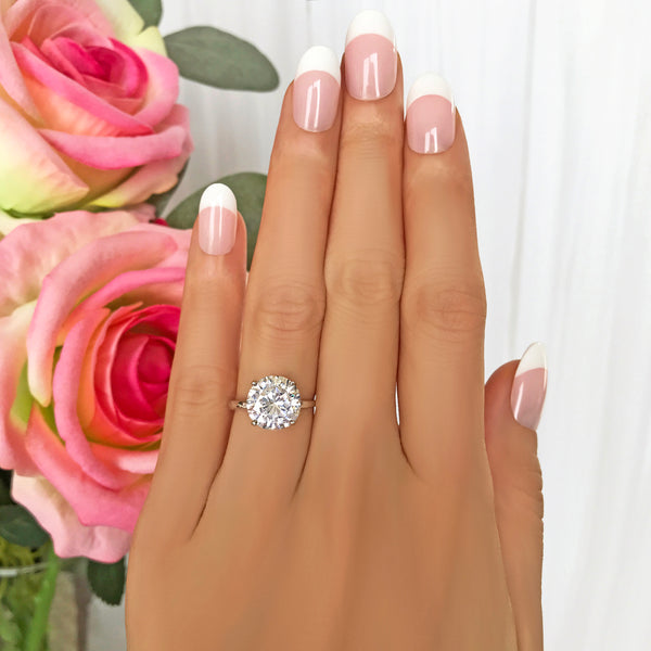 4 ct Round Solitaire Ring - 40% Final Sale, Sz 4-10