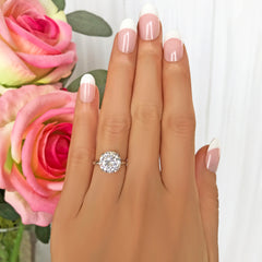 4 ct 4 Prong Solitaire Ring - 40% Final Sale, Sz 4-10