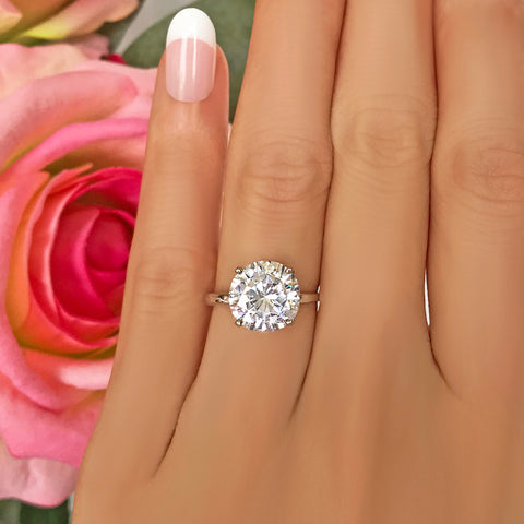 1.5 ct 6 Prong Solitaire Ring - 40% off Final Sale. Sz 10 or 12