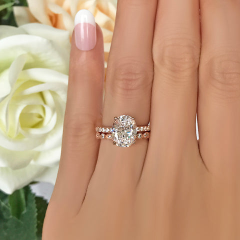 1.25 ctw Princess Accented Solitaire Set