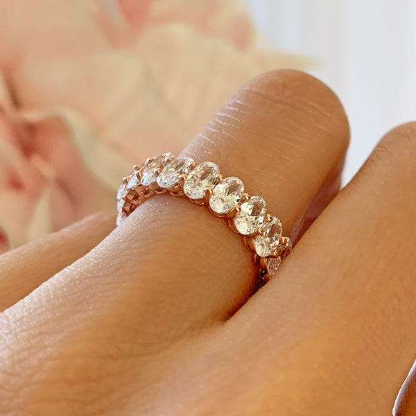 4 ctw Oval Eternity Band - Rose GP