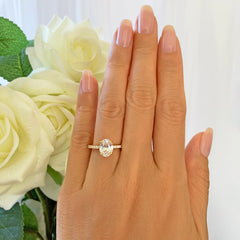 2.25 ctw Oval Accented Solitaire Ring - Yellow GP