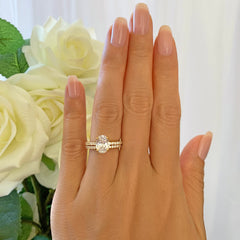 2.25 ctw Oval Accented Solitaire Set - Yellow GP