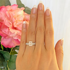 2 ctw Radiant Accented Solitaire Set