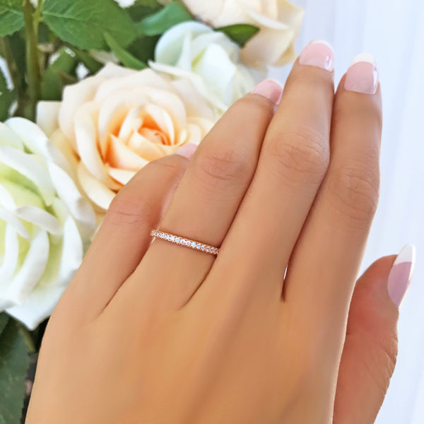 Half Eternity Band - 8k Solid Rose Gold