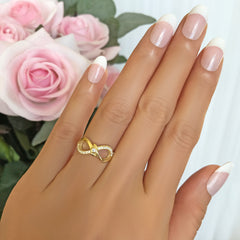 .1 ctw Accented Infinity Ring - Yellow GP, 40% Final Sale