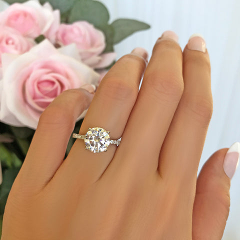 3/4 ctw Wide Art Deco Solitaire Ring