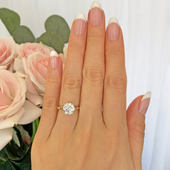 2 ct 4 Prong Solitaire Ring - 10k Solid Yellow Gold