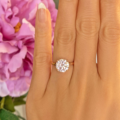 3 ct Oval Solitaire Ring - Rose GP