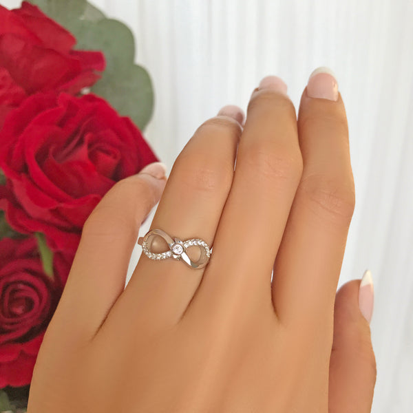 .1 ctw Accented Infinity Ring - 40% Final Sale