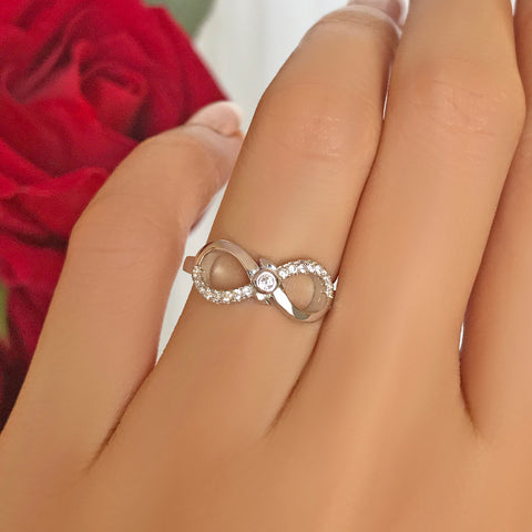 .2 ctw Love Cursive Ring - 40% Final Sale, Sz 5