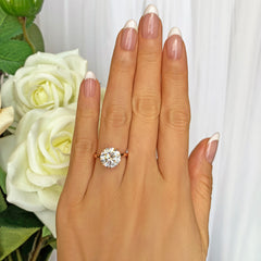 4 ct Classic Solitaire Ring - Rose GP - 40% Final Sale, Sz 4-10