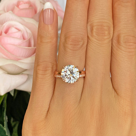 14 ctw Classic Glam Halo Ring - 60% Final Sale