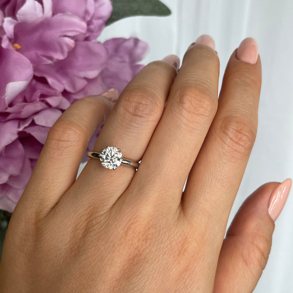 1.5 ct 6 Prong V Style Classic Solitaire Ring