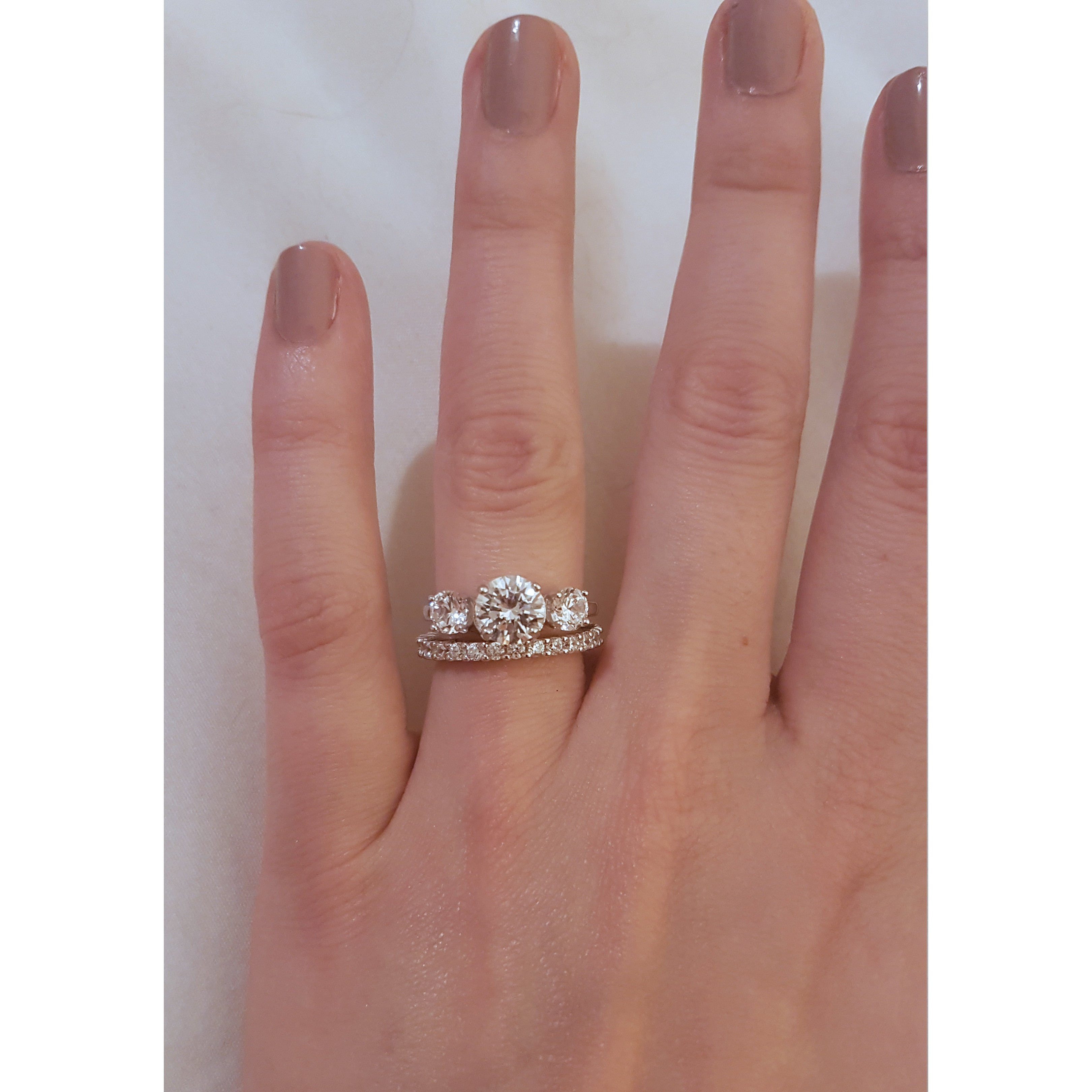 ring service complete diamond cluster product rings stone white waa engagement gold