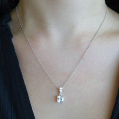 1.5 ctw Cushion Cut Necklace