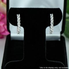1.5 ctw Hoop Earrings