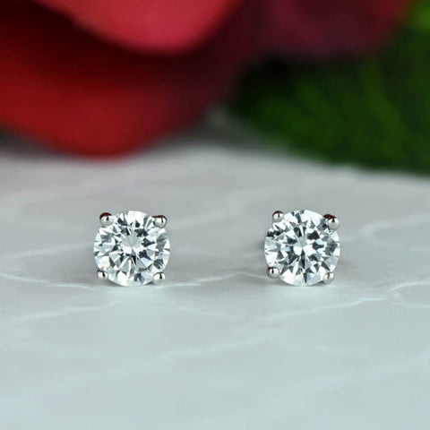 1/2 ct, 1 ctw 4 Prong Stud Earrings - Available at the end of August