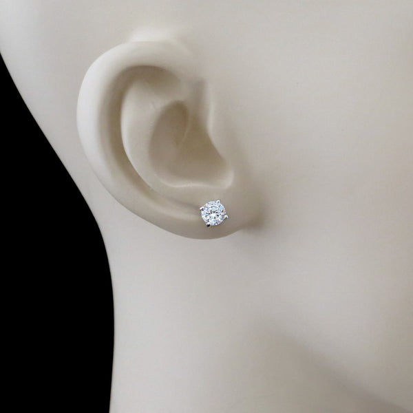 1/2 ct, 1 ctw 4 Prong Stud Earrings - Available at the end of May