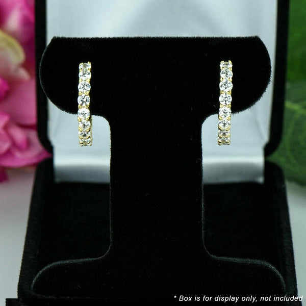 1.5 ctw Hoop Earrings -Yellow GP