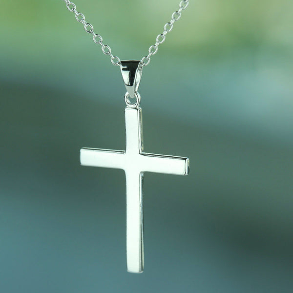 Simple Cross Necklace - Free Chain