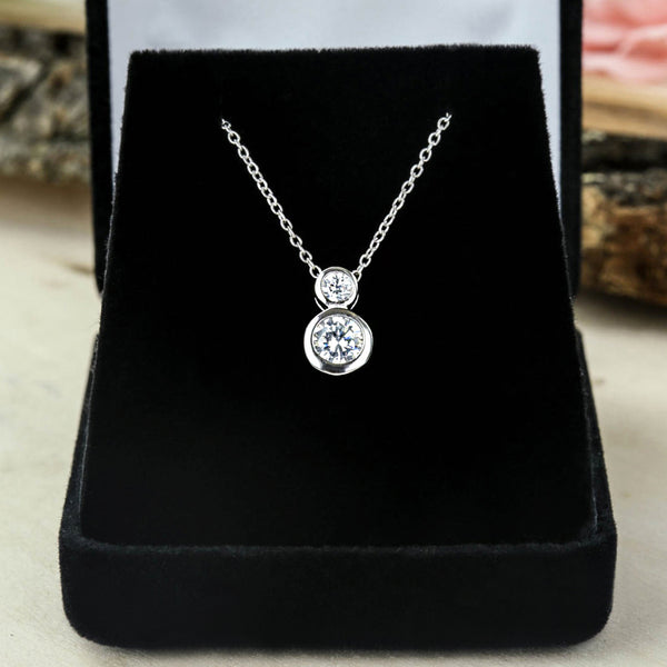 1 ctw Double Bezel Necklace