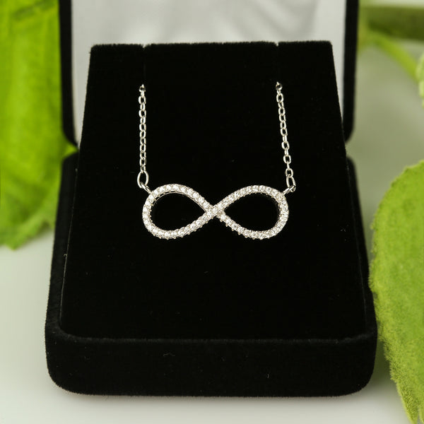 Infinity Necklace - Silver